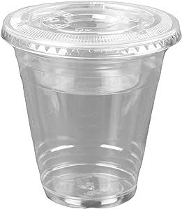 340.19 克透明塑料杯,4 盎司即118.34 克的鱼饵插入物和盖子(3 件)甜点杯 透明 Flat Lids (No Hole) C-KC12, C-PI4. C-KC626TS-NH