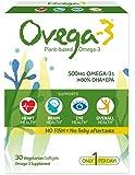 Ovega-3 - Omega-3 DHA + EPA 500 mg。30素食的软胶囊
