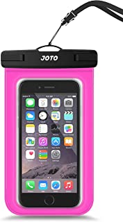 JOTO Universal Waterproof Case Bag Pouch for iPhone and Android Smartphones, Apple iPhone 6, 6 plus, 5S 5C 5 4S, Samsung Galaxy S6, S5, S4, S3, Samsung Note 4/3/2, LG G4 G3, Motorola MOTO, Nokia, Sony, HTC One M9 M8 M7, [Cellphone Waterproof Life Pouch, Smartphone Dry Bag, Credit Card Wallet Money Dry Bag] (Different Color and Size Options) 品红 up to 6.0 inch diagonal