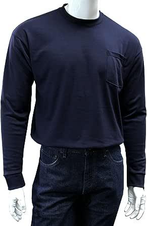 Chicago Protective Apparel Men's FR Cotton Long Sleeve T-Shirt