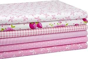 iEFUN 6 件 50.80 cm x 55.88 cm,* 纯棉*布料束,缝制工艺绗缝面料 # 1 Pink EF2018Q1001