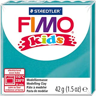 Staedtler Fimo 儿童烤箱模塑胶带,1.5 盎司,蓝绿色