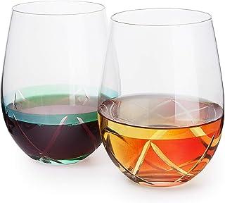 """红色*杯 2 件套手绘设计强劲存在 DAQQ 设计,灵感来自""""Duomo di Milano"""",任何葡萄*爱好者的精美补充品,送给葡萄*爱好者的独特礼物 Stepless: Blue, Green, Orange, Red"""