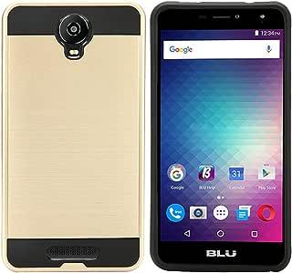 BLU Advance A6 手机壳,BLU Studio Mega S610P 手机壳,BLU Studio XL 2 S0270UU 手机壳,防震耐用高冲击混合超薄保护套,适用于 BLU Studio XL 2 S0270UU4336658661 金色
