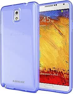 三星 galaxy note 4 手机壳 - KAYSCASE 超薄软胶手机壳适用于 Galaxy Note 4,2014 版 蓝色