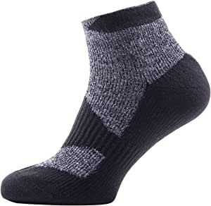 SealSkinz 户外袜 Walking Thin Socklet DARK GREY/BLACK XL