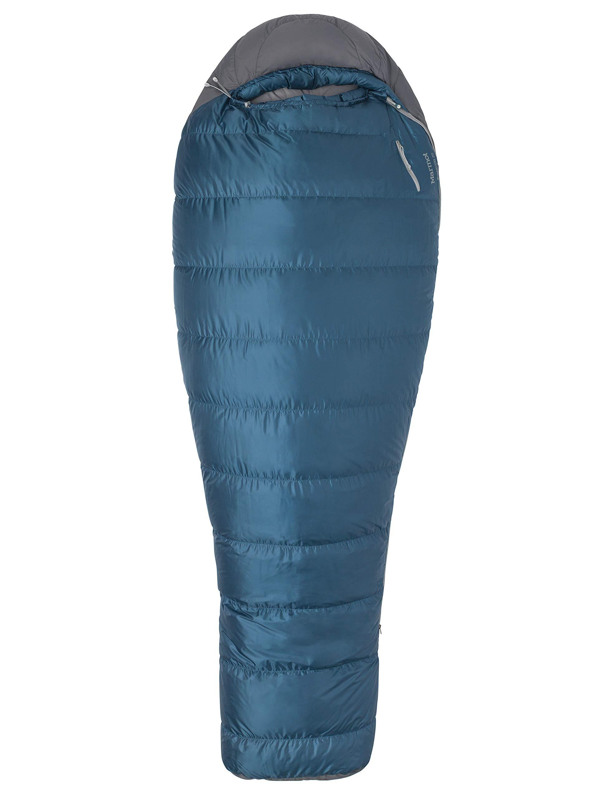 マーモットいろ20度、デニム/スチール瑪瑙に定格nwood 20ミイラ軽量寝袋