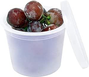 豪华 113.4 毫升 Deli 食品保鲜盒(专为冰箱和冰柜设计) 透明 4-AMZ50PK-2