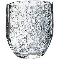 东洋佐佐木玻璃 花架 透明 约12.3×11.6×7.6cm 花瓶 叶子 日本制造 P-26433-JAN