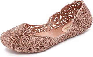 Melissa 女式 Campana Fitas II 芭蕾平底鞋