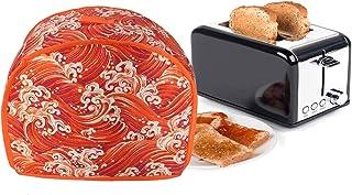 2 片烤面包机家电盖,通用尺寸微波烤面包机烤箱盖,防尘防指纹保护面包机盖,烤盘盖,厨房小家电布盖