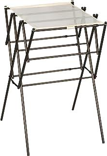 Household Essentials 可扩展折叠室内衣物干燥架 青铜色 STORAGE 5175