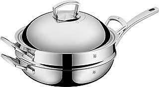 WMF福騰寶 炒鍋兩件套 多層無涂層金屬蓋28厘米 蒸籠直徑32厘米 不銹鋼多層材料適用于電磁爐可用于洗碗機 編號753516140
