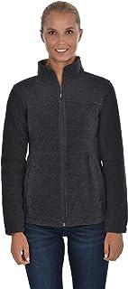 Swiss Alps 女式全拉链摇粒绒夹克运动衫,带口袋