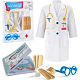 Litti 城市儿童*套件 - 完整的*/*配件,含白色*外套、听诊器和*套件 - Doc 外套和工具 - 男孩和女孩假扮游戏