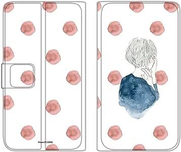 卡丽 手机壳 翻盖式 薄款印花翻盖 女孩和圆点WN-LC871539_MX 21_ MONO MO-01K 女の子とドットB