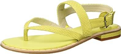 Kenneth Cole New York 女士 Tama 平底夹趾凉鞋带背带 柠檬色 6 M US