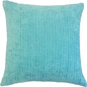 "The Pillow Collection Tahsin Solid Euro Sham Mediterranean ""Multi"" Queen/20"" x 30"" QUEEN-FT-29055-MEITERRANEAN-OUT"