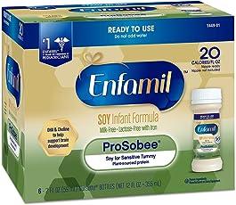 Enfamil 美赞臣 Prosobee 富含大豆基 婴幼儿 1段 配方奶粉溶液 2FL液体盎司(59ml)/瓶 (一盒6瓶) 8盒装