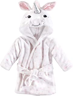 Hudson Baby 柔软毛绒婴儿浴袍 白色独角兽 0-9 个月