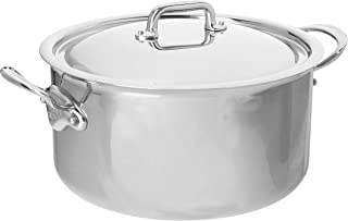 Mauviel Made In France M'Cook 5 Ply Stainless Steel 5231.29 9.1-Quart Stewpan with Lid, Cast Stainless Steel Handle