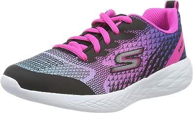 Skechers 斯凯奇 女童 Go Run 600-bright Sprints 运动鞋 Schwarz (Black & Multi Mesh/Trim Bkmt) 27 EU