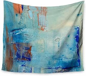 Kess InHouse Malia Shields The Blues 7.62 cm 蓝色棕色混合媒体壁毯 51 X 60 MS6036AWT01