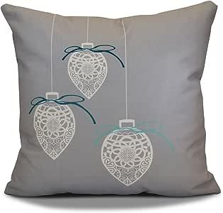 e 来自设计假期愿望金银丝饰品印花户外枕头