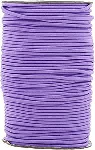 Mandala Crafts 2 毫米 76 码面料弹性绳,圆形橡胶拉伸绳适用于日记本、串珠、珠宝制作、面具、DIY 工艺 紫色(Lavender) 2mm Elastic Cord