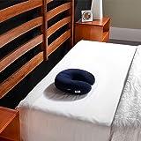 Tempur-Pedic TEMPUR-Travel 頸枕,柔軟支撐,壓力緩解,可適應舒適可清洗枕套,美國組裝,5 年保修,*藍
