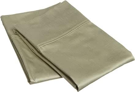 King Pillowcases 300-Thread 100% Premium Long-Staple Combed Cotton ,2-Piece Set,Sage