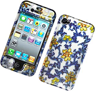 Eagle Cell PIIPHONE4G2D118 Stylish Hard Snap-On Protective Case for iPhone 4 - Retail Packaging - Blue China