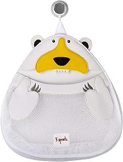 3 Sprouts Bath Toy Storage Bag, Polar Bear, White