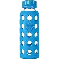 Lifefactory - 玻璃饮料瓶与硅树脂袖子海蓝色 - 9盎司