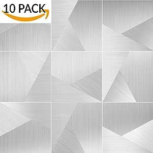 ALLiving 即剥即贴后挡板金属砖铝表面:amt-003 10pack 43237-2