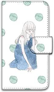 卡丽 壳 印刷手册 座位女孩 智能手机壳 手册式 对应全部机型 座る女の子C 3_ Galaxy Active neo SC-01H