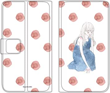 卡丽 壳 手册式 薄型印刷手册 座位女孩WN-LC873329_M 2_ Xperia A2 SO-04F 坐着的女孩 B