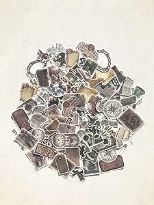 复古花朵贴纸包 | 笔记本电脑和手机艺术贴花 | 适合您的剪贴簿、记事本和子弹日记的可爱贴纸 Medieval Memory MOSTP