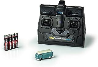 CARSON 500504118 - 1:87 VW T1 公交车箱车 2.4G * RTR,骑行模型,2.4 GHz 遥控带充电接口,包括 4 x AAA 电台电池,带 LED 照明,说明