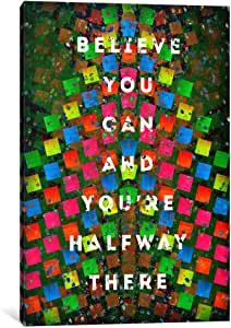 iCanvasART 11688-1PC3-26x18 Halfway There Canvas Print by Ruud van Eijk, 0.75 x 18 x 26-Inch