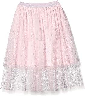 斑点斑马女孩中长蓬裙