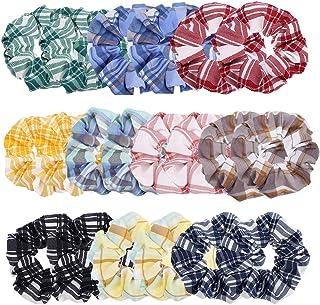 Wooyaya 20 件套发圈棉布网格发圈发圈弹性发带发圈发圈发圈绳适用于女士或女孩发饰