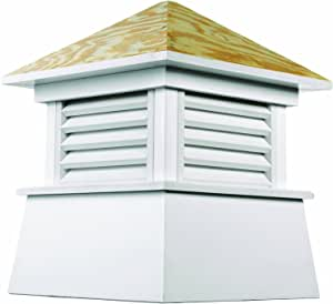 """Good Directions Kent PVC Vinyl Cupola with Wood Roof 白色/米白色 26"""" square x 32"""" high"""
