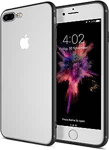 iPhone 8 Plus 手机壳,iPhone 7 Plus 手机壳 [防刮] 增强手刚性 [硬背板] 超薄贴合全防护防刮 TPU 手机壳 iphone 7P
