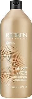 Redken All Soft 洗发水| 干燥/脆弱的毛发| 带来强烈的柔软度和光泽度| 摩洛哥坚果油| 33.8盎司(约958.21克),1000毫升