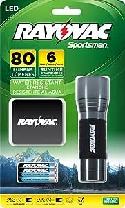 Rayovac Sportsman 200 Lumen Cree XRE LED 手电筒,SE4W3CA 80 Lumen SE3AAAMN-BA