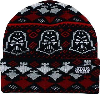 Star Wars 达斯·维达圣诞节青少年翻边针织无檐小便帽黑色