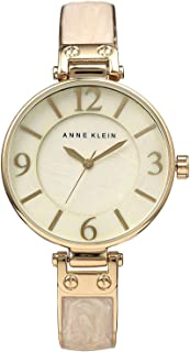 Anne Klein 1980TPRG Women's Diamond Grey Dial Rose Gold & Grey Bracelet Watch