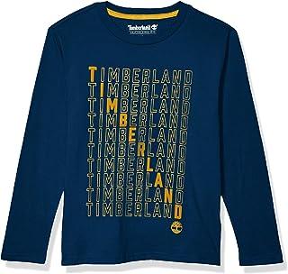 Timberland 添柏岚 男孩长袖针织图案 T 恤