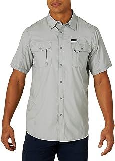 ATG by Wrangler 男式短袖翻盖口袋徒步衬衫,纪念碑,2XL 码